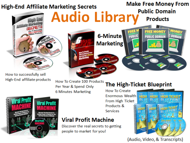 Bonus Audio Library included with your Internet Marketing Trends subscription.