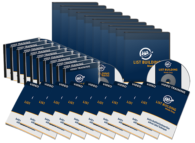 List Building Made Easy Training Guide, Audio & Video course
